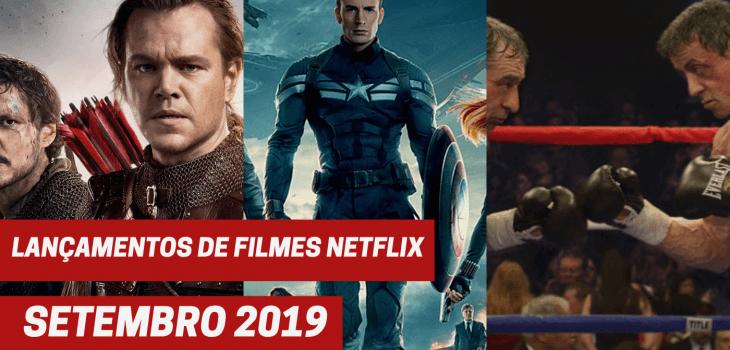 Lançamentos de filmes Netflix setembro 2019