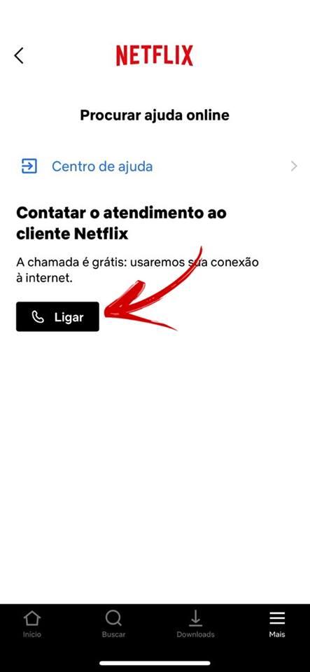 A chamada usa internet