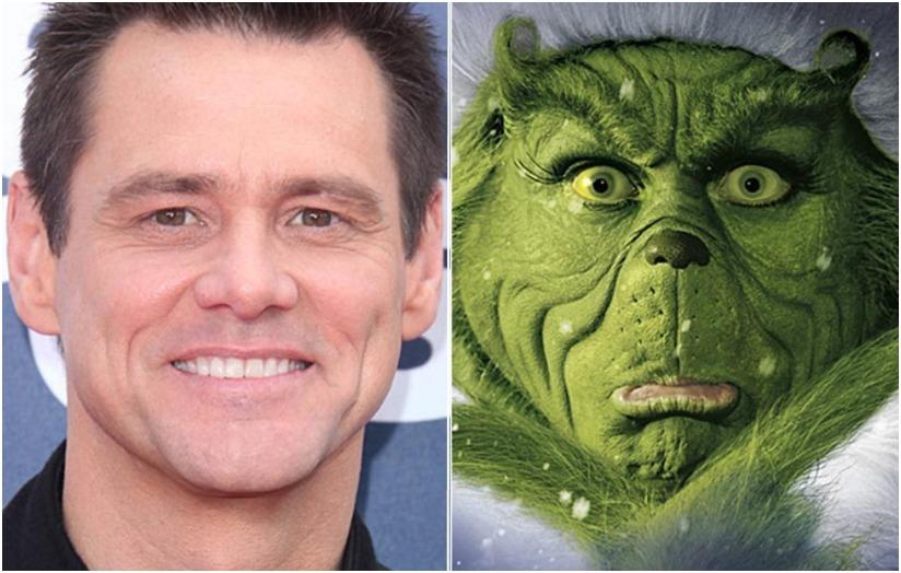 Grinch, Jim Carrey - transformação do ator