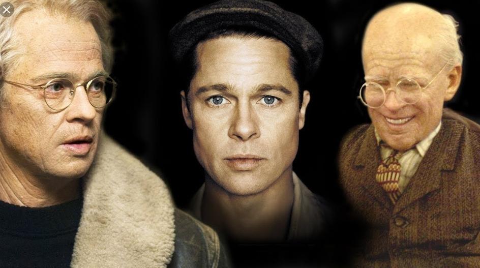 Benjamin Button - antes e depois da maquiagem