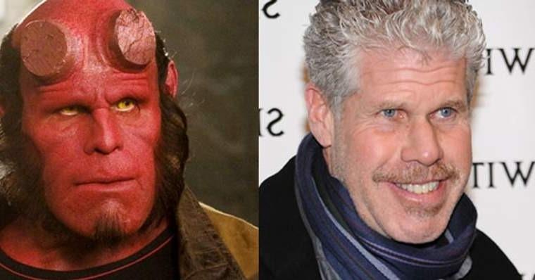 Hellboy - Antes e depois da maquiagem