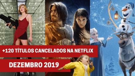 Títulos cancelados na Netflix em dezembro de 2019
